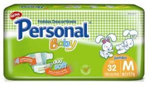 Fraldas Personal para mamães testarem