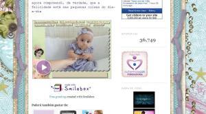 EU… no Blog Nasci pra ser Mãe
