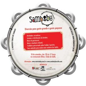Sábado (10/09) tem SamBaby em Brasília