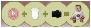 Picky Sticky: adesivos para fotografar o bebê mês a mês