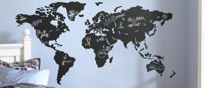 Mapa decorativo para desenhar com giz